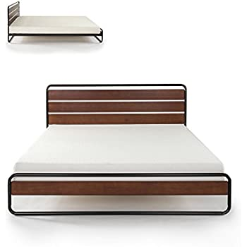 Amazon Com Zinus Horizon Metal Amp Wood Platform Bed With
