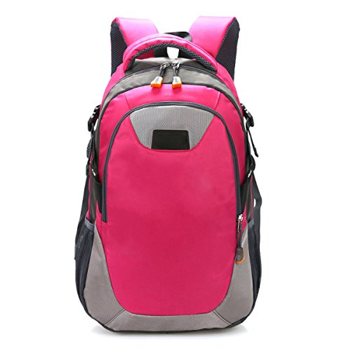 Gran Mochila Bandolera Recorrido De La Capacidad Recorrido Al Aire Libre Bandolera Estudiante Bolsa Casual,Pink Red