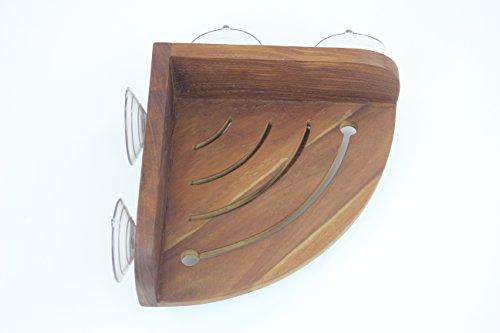 The Original Kai Corner Teak Shower Shelf by AquaTeak (Image #6)