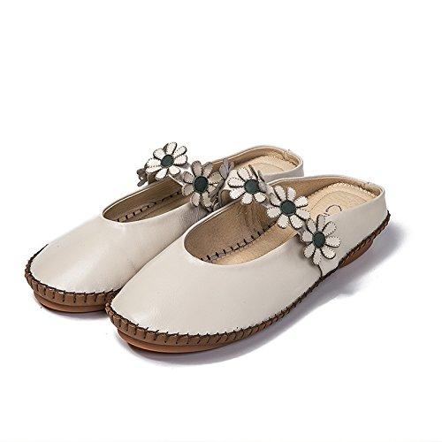 Trainato Piatto Sandali bianco Con Antiscivolo Semi Pantofole Qingchunhuangtang Fondo Riso qROwFTW6R