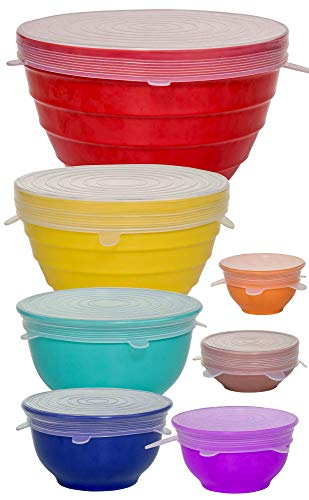 Reusable Silicone Stretch Lids Versatile