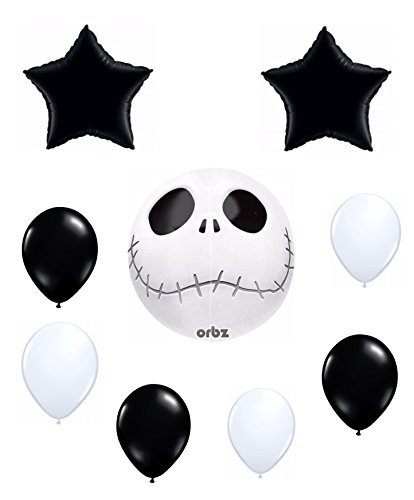 Jack Skellington Orbz Balloon Decoration Kit by Anagram Skeleton