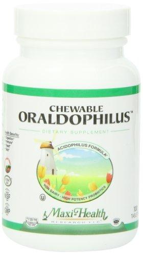 Oraldophilus à croquer santé maxi - Non laitiers - probiotiques, saveur tropicale, 100 Chewies, cacher