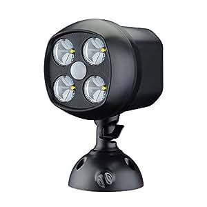 VicTsing LED Luz de Múltiples Funciones con Sensor Movimiento Cada Brillo del LED Se Mantiene a 15000MCD, Luz de Cabeza Puede Girar 360º para Jardín, Patio,Borde del Camino,Campo de fútbol Etc