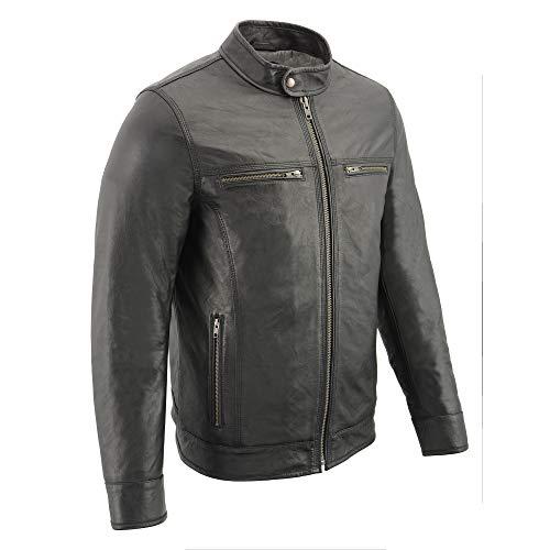 Milwaukee Leather Men's Leather Jacket black 5XL (Designer Leather Mens Jackets)