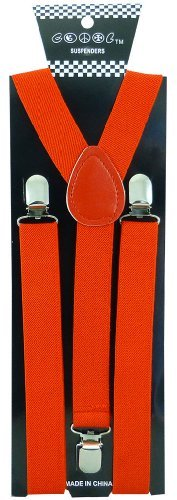 JTC Belt Great Quality Unisex Suspenders Plain Orange