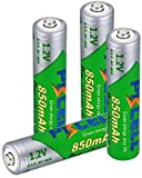 Pkcell AAA Low Self Discharge Rechargeable Battery, 850mA NiMh