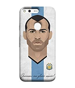 ColorKing Football Masherano Argentina 02 Multicolor shell case cover for Google Pixel