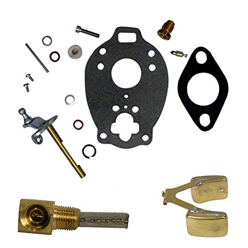One (1) Carburetor Kit with Float & Fuel Screen for Ford New Holland Tractor Models: 2N, 8N, 9N