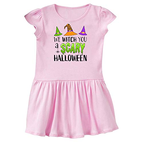 inktastic - We Witch You a Scary Halloween Toddler Dress 4T Ballerina Pink 32028 -