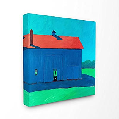 Stupell Industries Colorful Luminous Painted Farm Barn Canvas Wall Art, 30 x 30, Multi