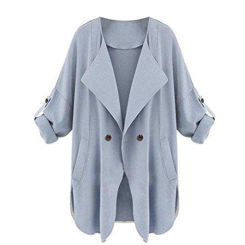 Escudo, abrigo,Internet Chaqueta con capucha de manga larga para mujer, otoño, manga larga Azul