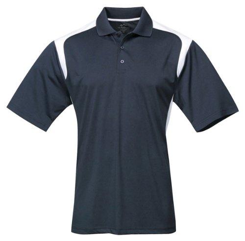 Tri-mountain Mens 100% Polyester UC Knit Polo Shirt. 145TM - NAVY / WHITE_3XLT