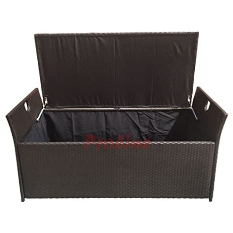 Merveilleux LARGE 64u0027u0027 Wicker Pillow Cushion Storage Box Chest Trunk Patio Deck  Poolside Toy Storing