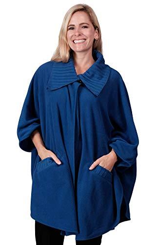 Le Moda Fleece Wrap one size (ONE SIZE, LDS-581-ROYAL)