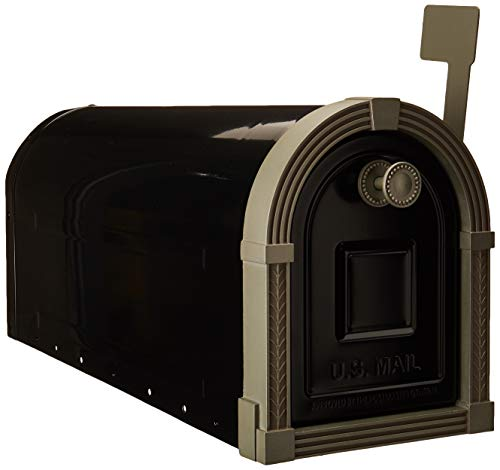 (Gibraltar Mailboxes BM16BSN1 Brunswick Rural Mailbox, Large, Black and Satin)