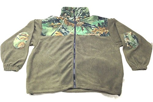Trail Crest Mens Full Zip Fleece Camoflauge Sweatshirt (L)
