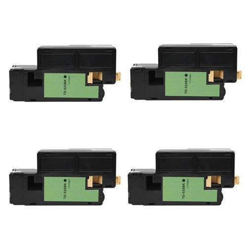 Image of Camera Amsahr TD-525BK-SET4 Dell E525 Keyed Compatible Replacement Toner Cartridge, Black, Magenta/Yellow/Cyan
