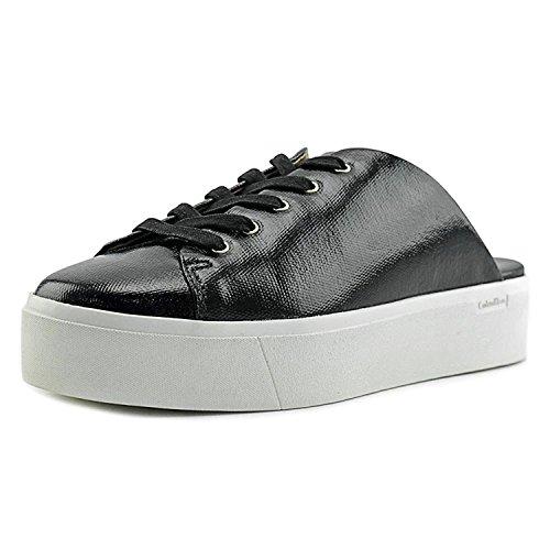 Calvin Klein Womens Jaleh Canvas Closed Toe Mules, Black, Size 6.5