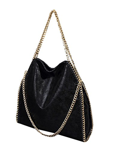 Tinta borse Borsa 2 Donna Tracolla Mioy Mano unita pelle Borsetta Moda a Ragazze Casual nero a Tracolla x8YaEFw4q