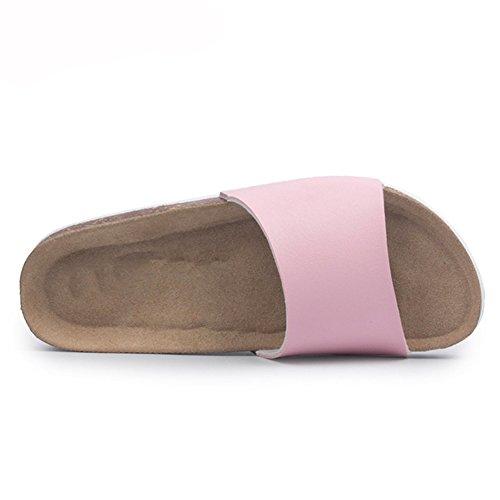 Slides Black Cork Bling Toe Slippers Soft Women Lady Bling Open Bottom ZHOUZJ Beach 75qEwvg