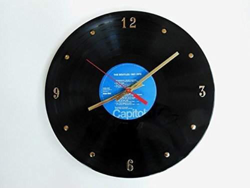 The Beatles Vinyl Record Clock (1967-1970). Handmade 12