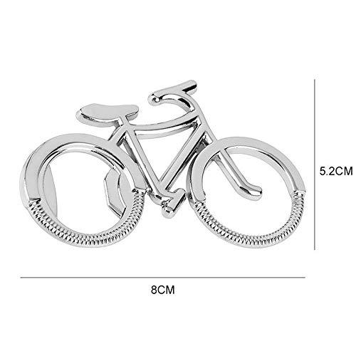 YPT - Abridor de botellas de cerveza de metal para bicicleta, para amantes de la bicicleta, boda, aniversario, fiesta,...