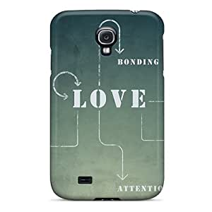 Rugged Skin Case Cover For Galaxy S4- Eco-friendly Packaging(love Text Typography Diagram)
