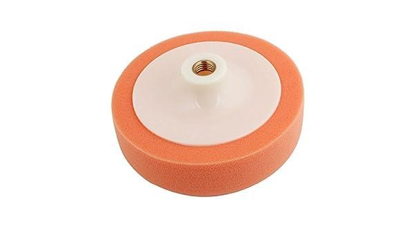 Amazon.com: eDealMax Soporte de la rueda Blanca de plástico anaranjado Suave esponja de coches herramienta de limpieza Lavado: Automotive