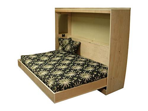 Horizontal Murphy Bed Plans Queen Size Wall Bed Plan DIY Bedroom Furniture Build Your Own