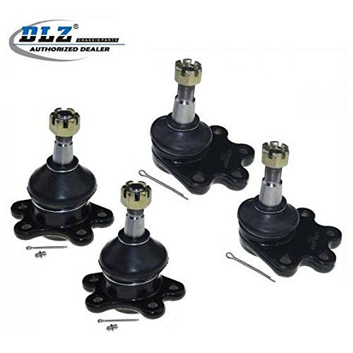 DLZ 4 Pcs Front Suspension Kit-2 Lower 2 Upper Ball Joints Compatible with 1988-1995 Chevrolet GMC K1500/K2500 Pickup, 1990-2005 Chevrolet Astro, 1992 1993 1994 Chevrolet Blazer, 1995 Chevrolet Tahoe