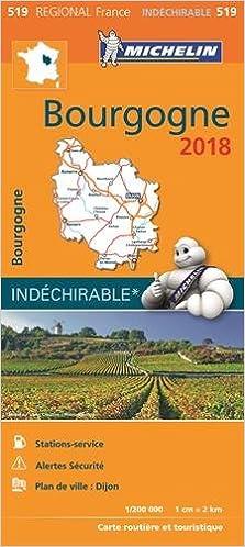 Carte Bourgogne Michelin.Amazon Fr Carte Bourgogne Michelin 2018 Michelin Livres