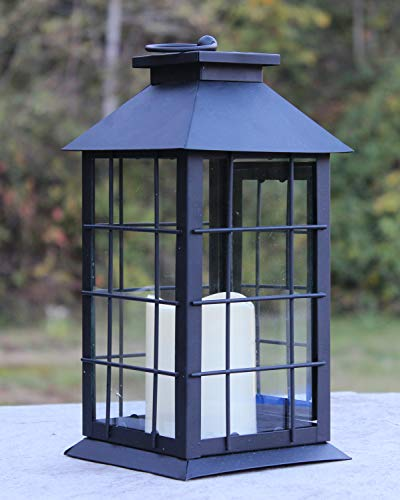 Seraphic Black Metal Lantern with Flickering Flameless LED Candle, Case of 6 by Seraphic (Image #2)