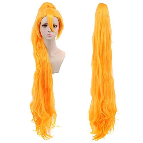 Yuehong Long Wig Anime Cosplay Wig Classic Ponytail Wig Halloween Costume -