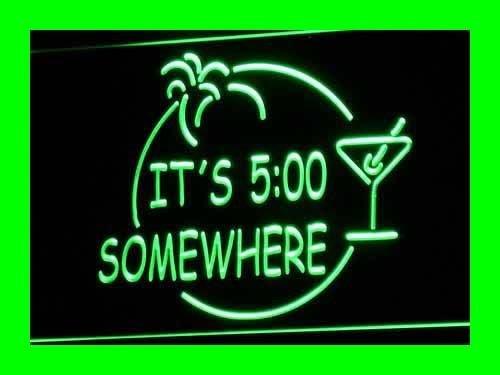 ADV PRO i090-g ITS 5:00 SOMEWHERE MARGARITA NEON Bar Light (Margarita Neon Sign)