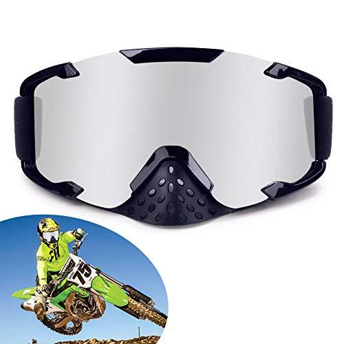 XYOP Motorcycle Goggles,ATV Goggles Motocross,Dirt Bike Goggles Helmet,Bendable OTG Frame Goggles Windproof Racing Goggles Off Road,100% Goggles UTV Nose Guard,Wrap Ski ()