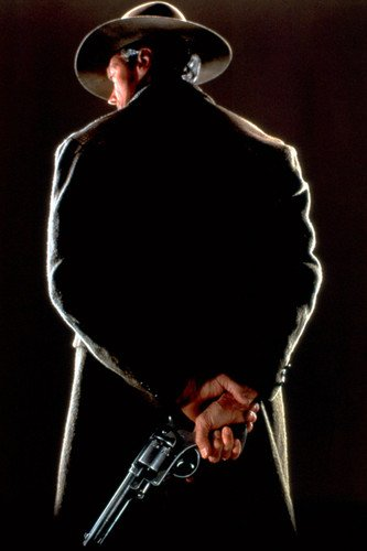 Movie Photo Back (Clint Eastwood Unforgiven 24X36 Movie Poster iconic back turned holding gun)