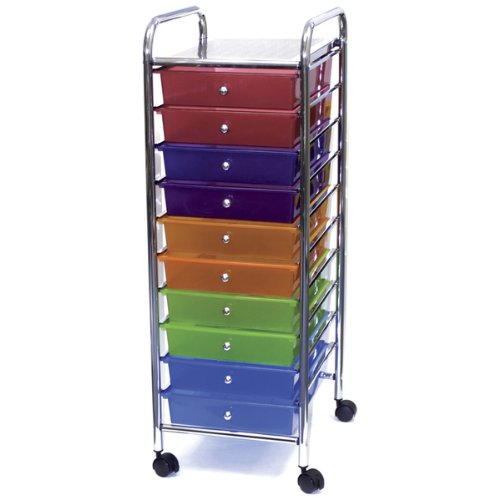 Home Center Rolling Cart with 10 Drawers - Multicolor 1 pcs sku# 633587MA by Advantus