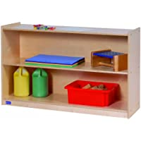 Steffy Wood Products 30-Inch by 48-Inch Wide 2-Shelf Mobile Storage
