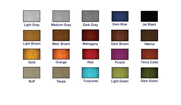 Water Based Concrete Dye 1 Quart Odorless 20 Vibrant Colors