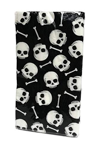 Happy Halloween Skull & Bones 16 Pack Paper Dinner Luncheon Napkins