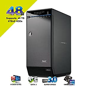 "Mediasonic ProRaid H8R2-SU3S2 8 Bay 3.5"" SATA Hard Drive External Hard Drive Enclosure - USB 3.0 & eSATA"