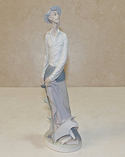 Figurine m, Don Quixote Standing (Man Standing with Sword) - Lladro 4854