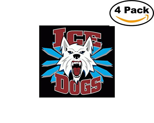 Hockey Fairbanks Ice Dogs Logo 4 Stickers 4X4 Inches Car Bumper Window Sticker Decal