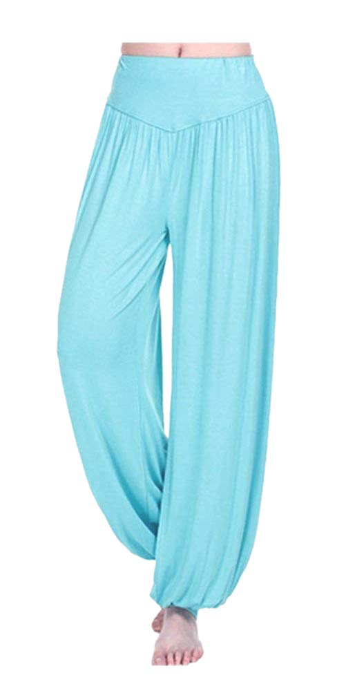ARJOSA Women's Soft Modal Spandex Wide Leg Baggy Harem Yoga Pants GLM-302