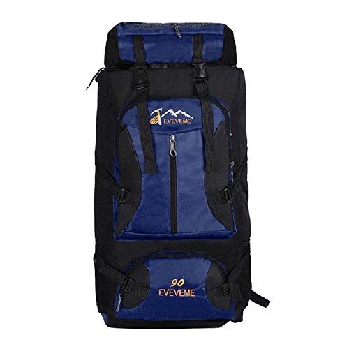 ZC&J Moda mochila universal de los hombres y las mujeres, cómodo ajustable, resistente al desgaste, anti-fouling, mochila de viaje de alta calidad, 56-75L mochila de gran capacidad de montaña,C,56-75L B