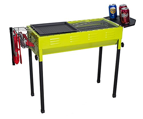 Camp Solutions BBQ Grill, Charcoal grill, Foldable and Portable Outdoor Grill, A Perfect Gift for Barbecue Lovers