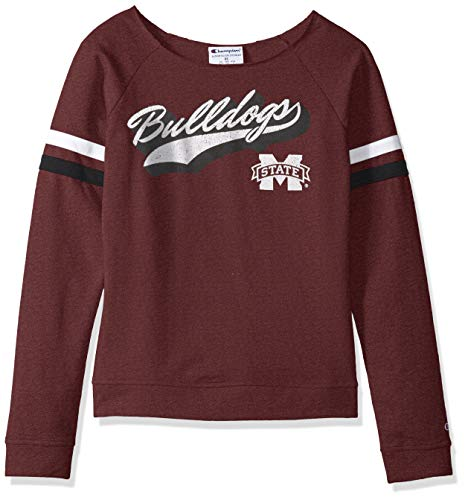 Champion (CHAFK) NCAA Mississippi State Bulldogs Womens NCAA Women's Long Sleeve Fall Fashion Sweatshirtchampion NCAA Women's Long Sleeve Fall Fashion Sweatshirt, Maroon, Small