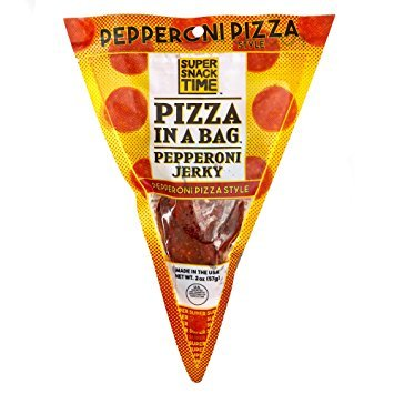 Pepperoni Jerky - Pizza in a bag by Super Snack Time - Pepperoni Pizza Style Pepperoni Flavored Jerky - Made in the USA - 2 oz pack (Pepperoni)