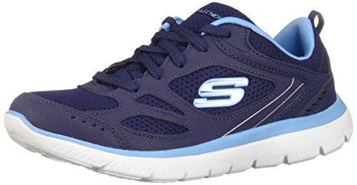 Skechers Summits Suited Womens Sneakers Navy/Blue 8